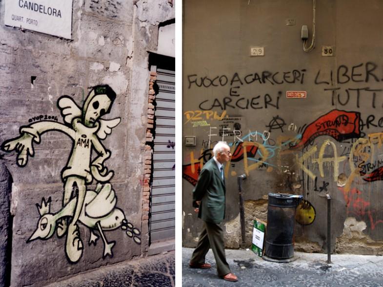 Napoli, via candelora / via benedetto croce