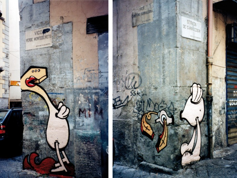 Napoli, vico verde monteoliveto / strada de' carrozzieri