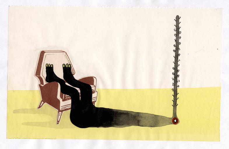 (stai sciolto), acrilico su carta, 2009