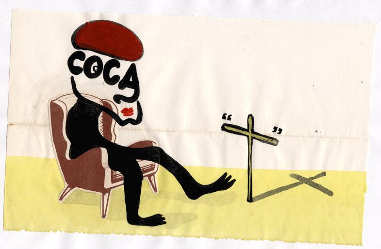 (coca), acrilico su carta, 2009